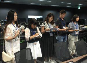 ②テレビ東京新本社の放送施設内での研修